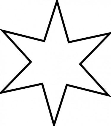 Star clip art outline free clipart images 7.