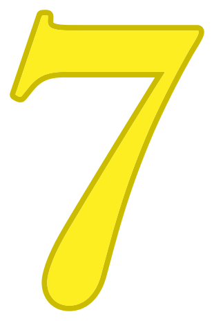 number 7 yellow.