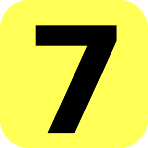Yellow Rounded Number 7 Clip Art at Clker.com.