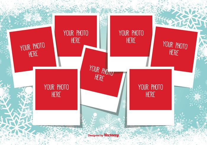 Christmas Photo Collage Template.