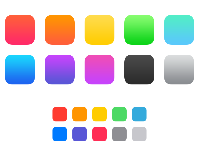 iOS 7 Color Swatches by Louie Mantia.