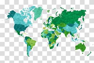 Globe World map, Beautiful world map transparent background.