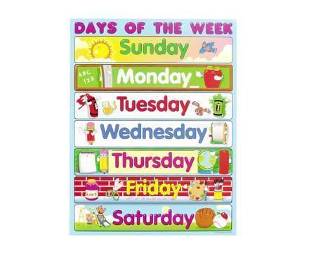 7 Days Of The Week Clipart.