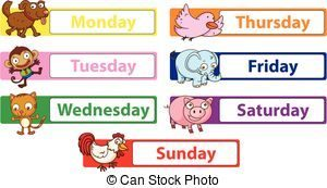7 days of the week clipart » Clipart Portal.