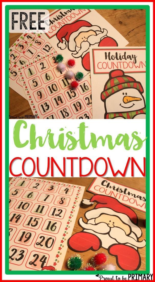 Christmas Holiday Countdown: Anticipating Santa.