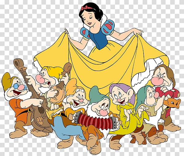 Snow White and the 7 Dwarfs illustration, Snow White Seven Dwarfs.