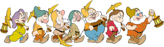 Download Snow White And The Seven Dwarfs PNG File.