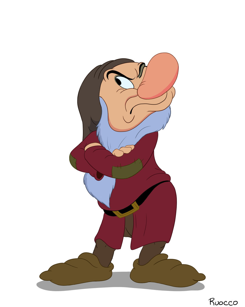 Grumpy Snow White Dwarf PNG Transparent Images.