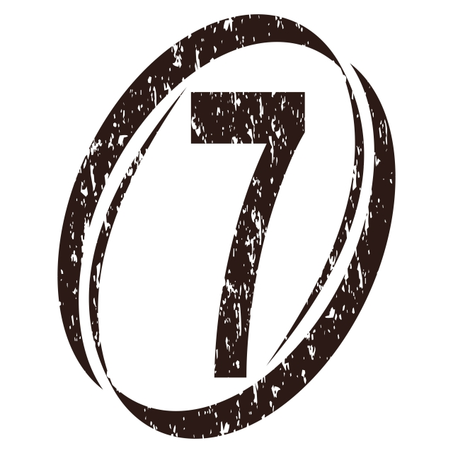 Number 7 Rough Logo, Rough, Template, Scattered PNG and Vector with.