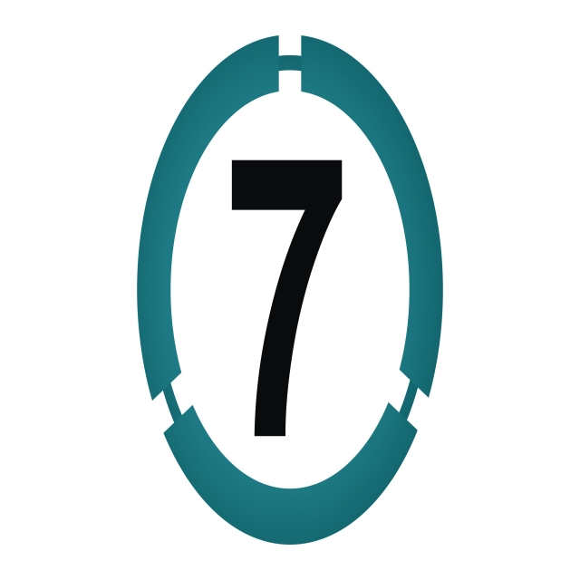 Modern Number 7, Icon, Template, Badge PNG and Vector with.
