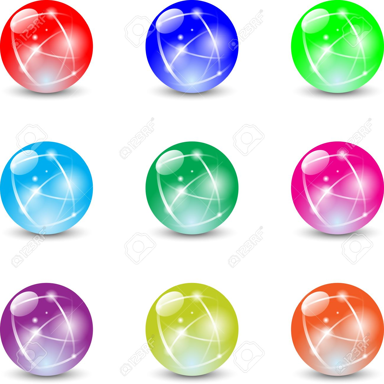 7 marbles clipart Transparent pictures on F.