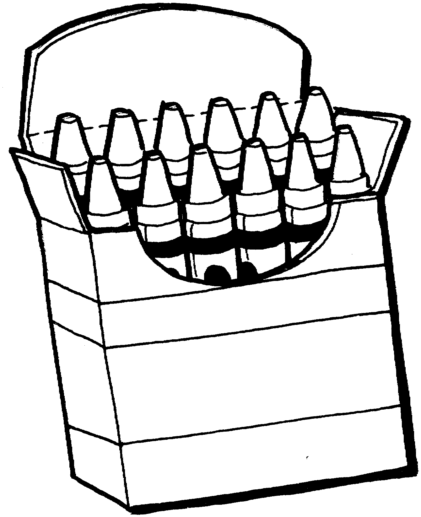 Markers Clipart Black And White.
