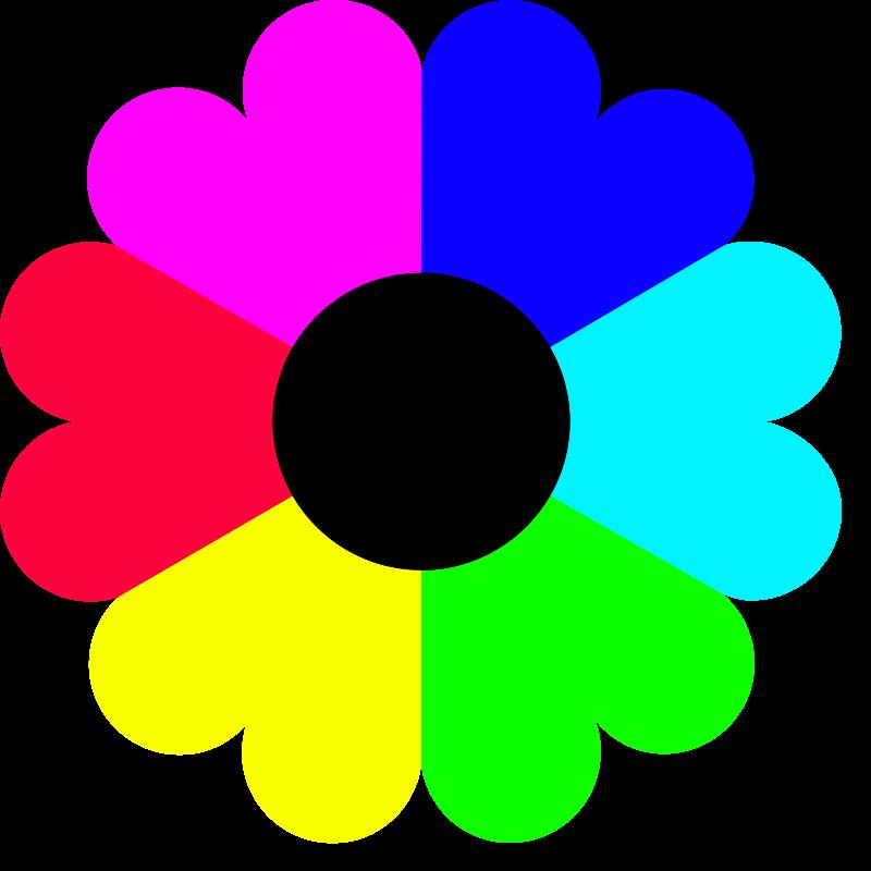 6 Petal Flower Clipart.