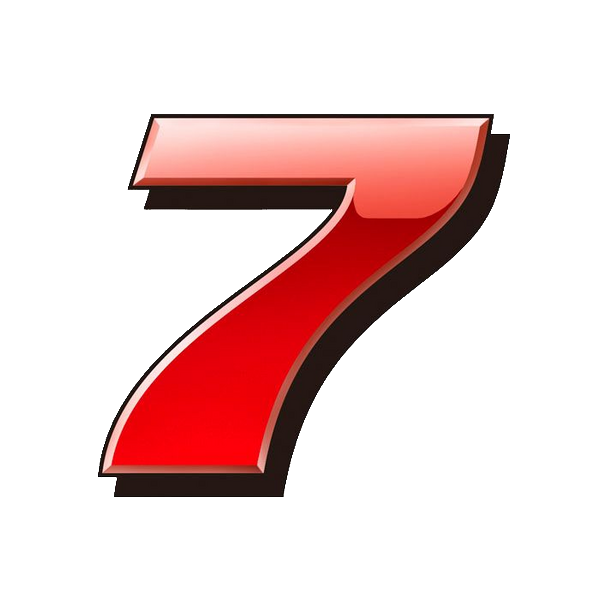 Number 7 PNG Transparent Images, Pictures, Photos.