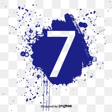 Number 7 PNG Images.