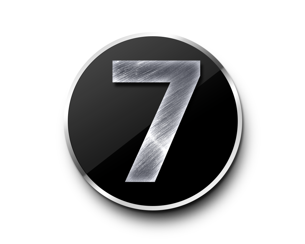 7 Number PNG.