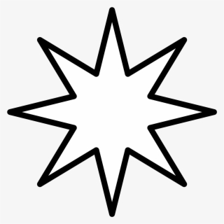 Free Star Outline Clip Art with No Background.