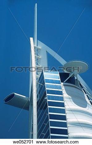 Stock Photography of The 7 star luxury Burj al Arab Hotel, at.