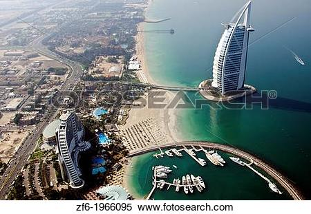 Stock Image of Worlds only 7 star hotel in Dubai UAE called the.