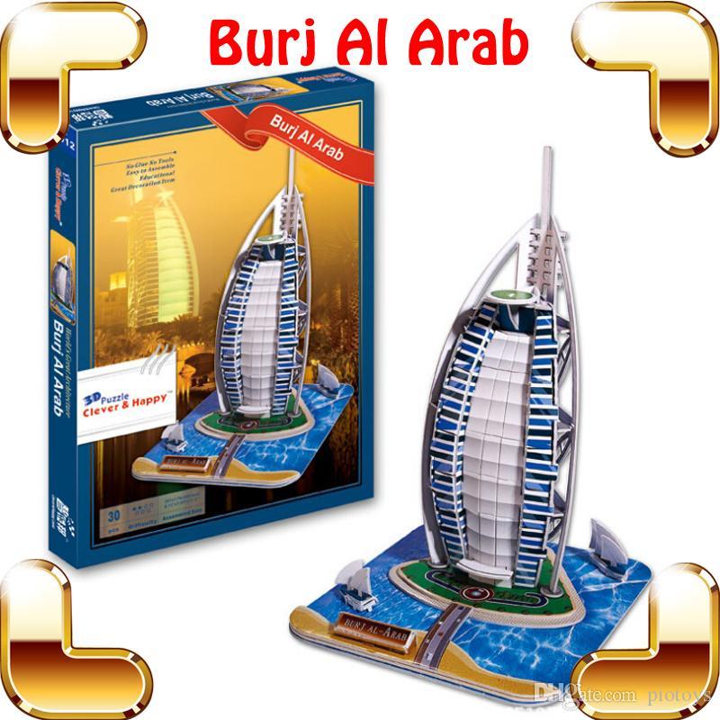 2017 New Year Gift Dubai Burj Al Arab 3d Puzzle Hotel Puzzle Dhow.