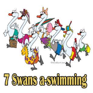 Seven Swans A Swimming Décor.