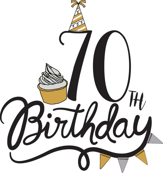 70th birthday clipart 8 » Clipart Station.
