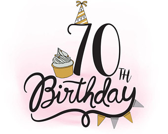 70th Birthday Clipart.