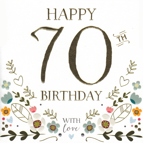 Happy 70th Birthday' Card.