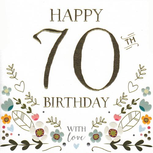 Happy 70th Birthday' Card.