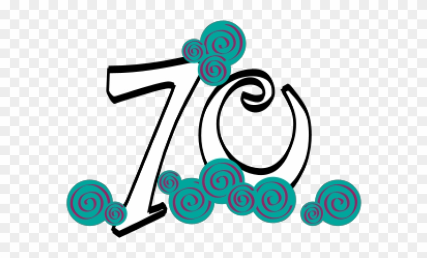 Happy 70 Birthday Png Clipart (#74834).