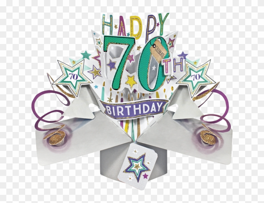 70th Birthday 3d Pop Up Card By Second Nature.
