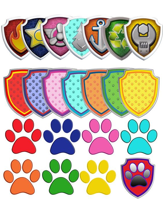 70 Paw Patrol Clipart 7 logos and 7 by OctopusDigitalStore.