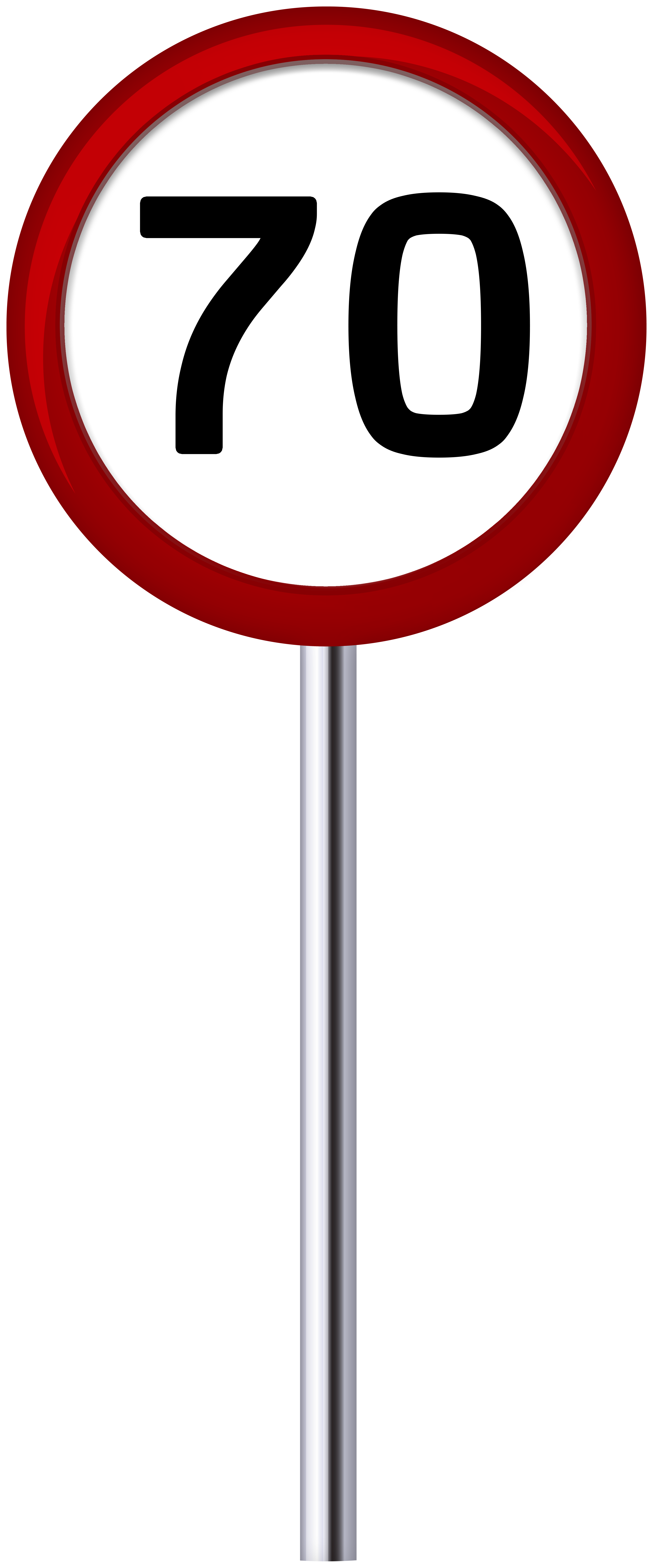 Traffic Sign Speed Limit 70 PNG Clip Art.