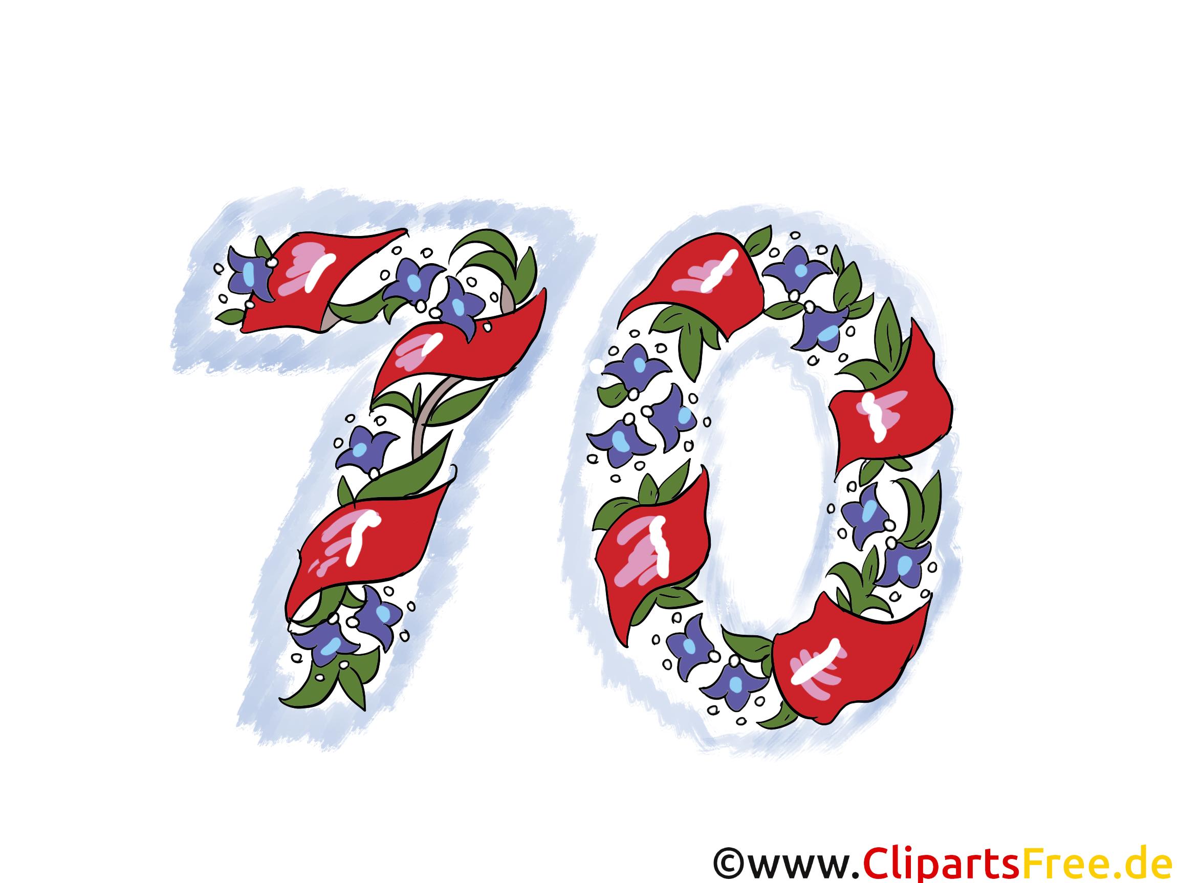 70. geburtstag clipart » Clipart Station.