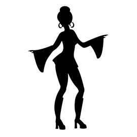Disco Dancer Silhouette 02 Stencil.