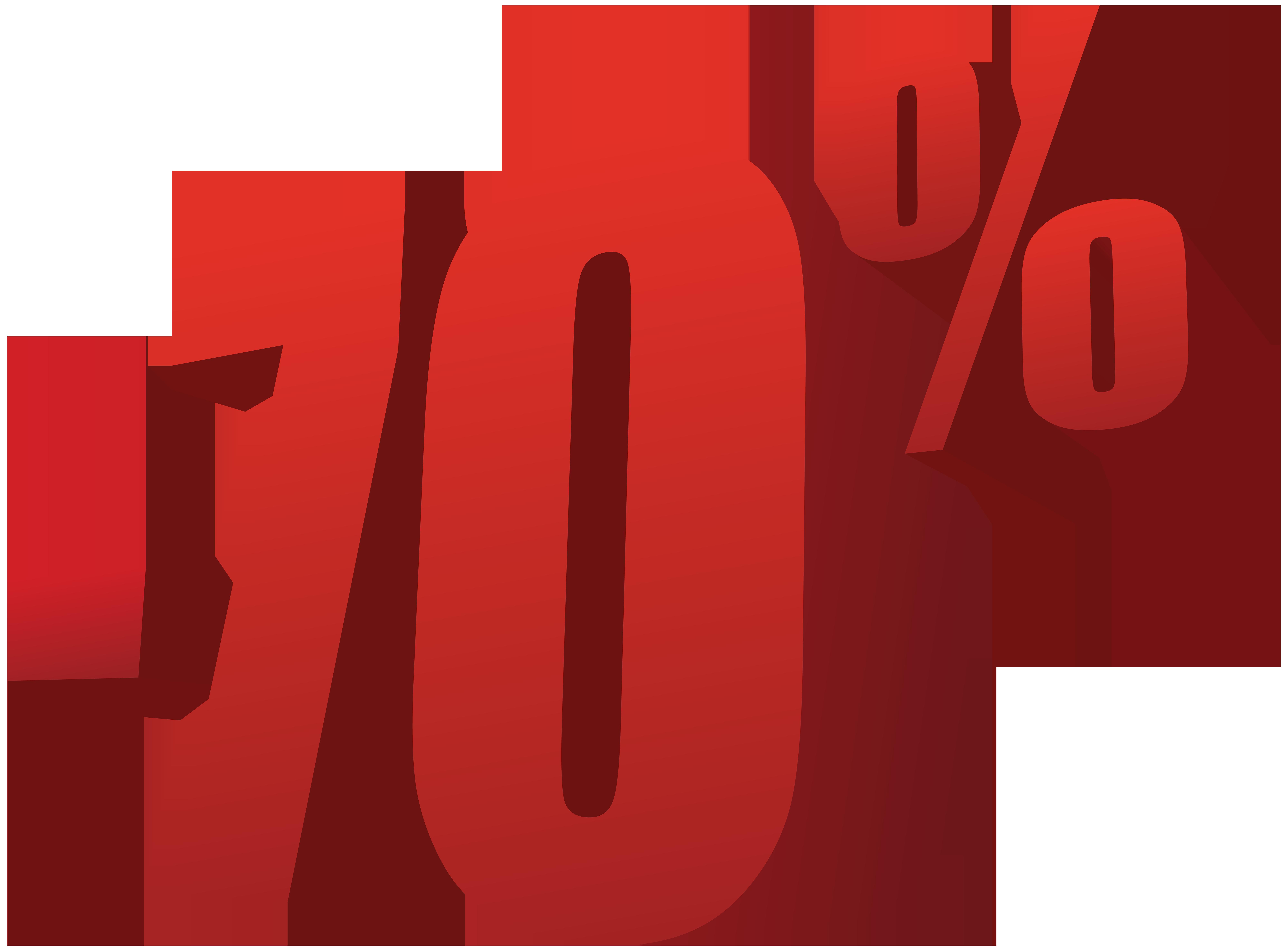 70% Off Sale PNG Transparent Image.