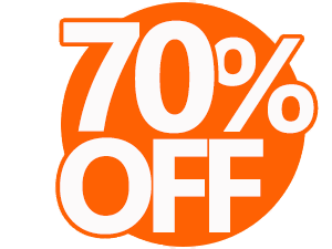 70% Discount Coupon transparent PNG.