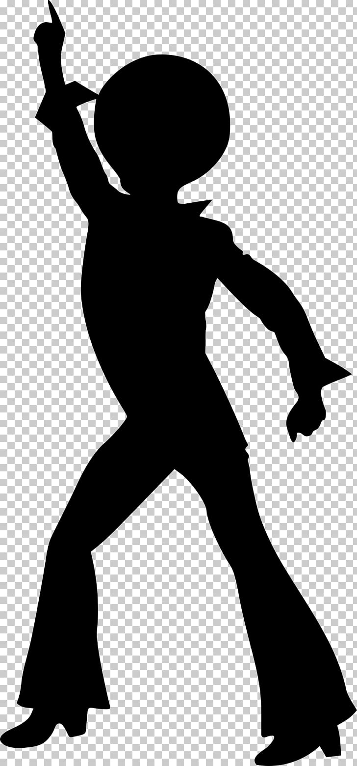 Dance Disco Silhouette Drawing, 70\'s PNG clipart.