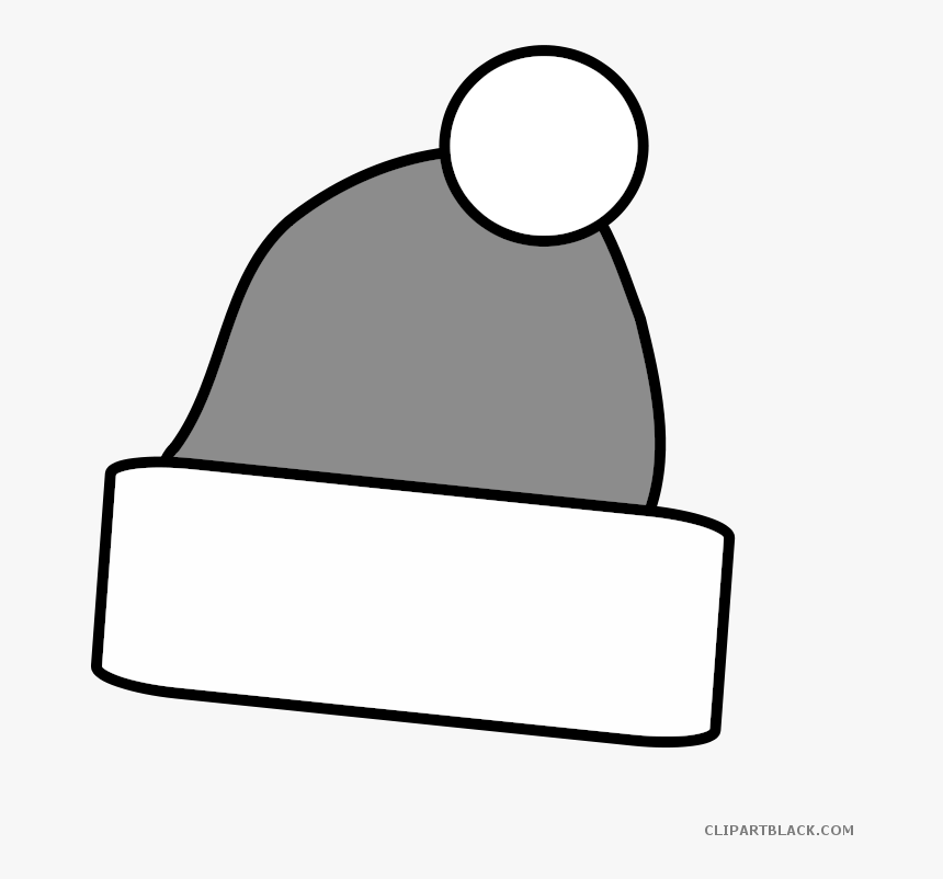 Transparent Santa Hat Clipart Black And White Png.