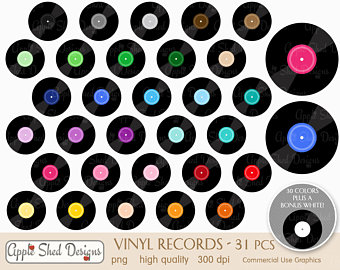 Record clipart 70\'s, Record 70\'s Transparent FREE for.