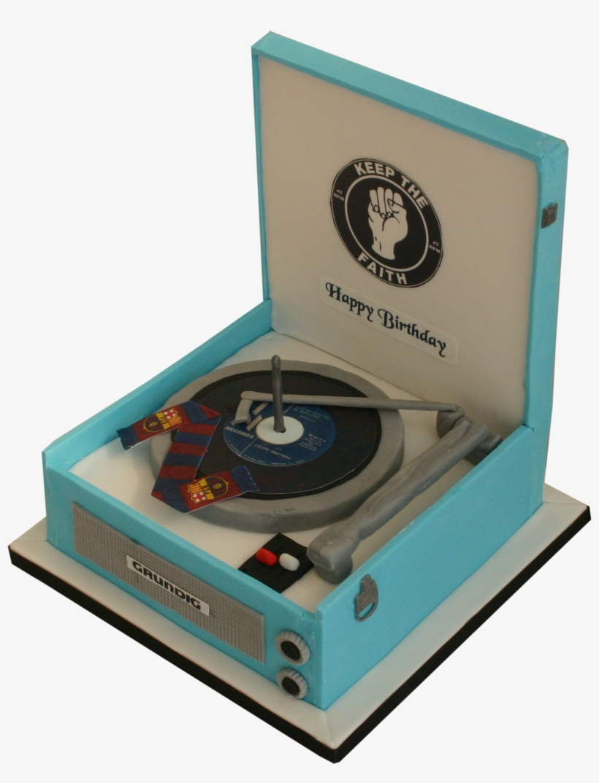 70\'s Record Player Box Cake, Cake Birthday, Record.