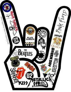 Classic Rock Music Clipart.