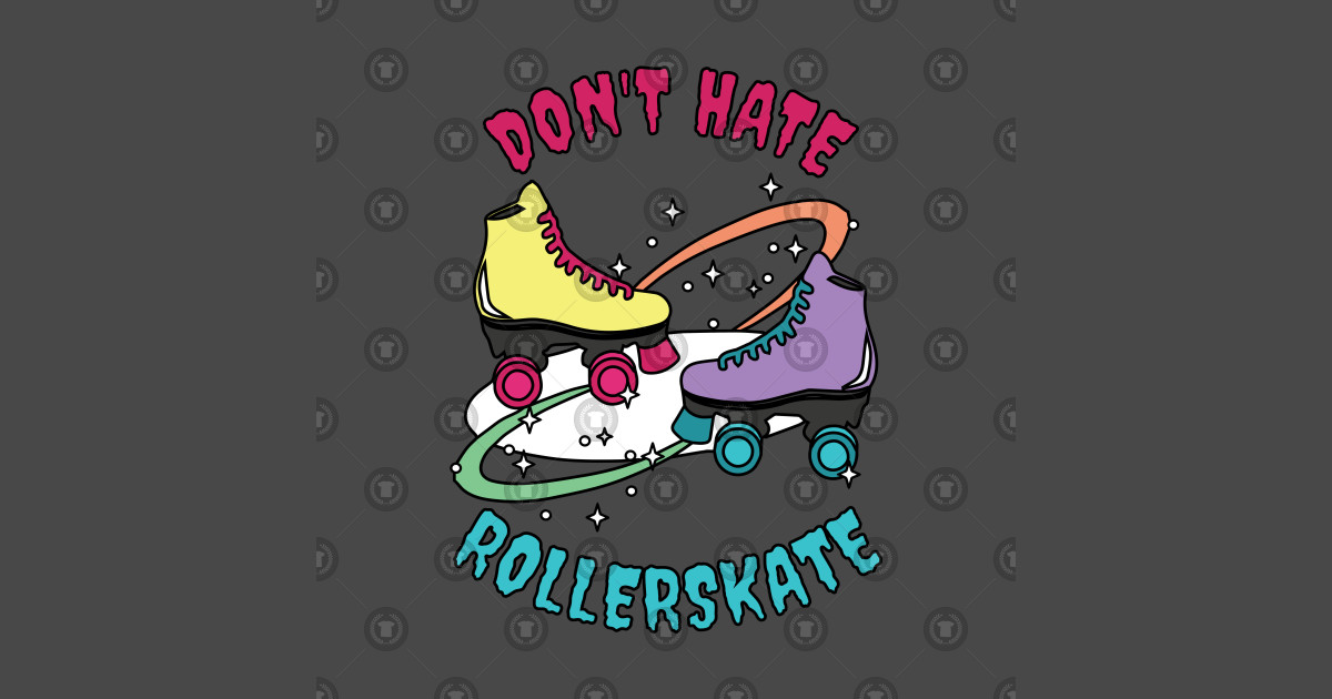 Don\'t Hate Roller skate Roller Disco Skates Derby Girl 70s by bornfreestyle.