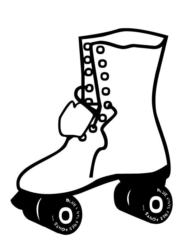 70 s roller skate clipart #6