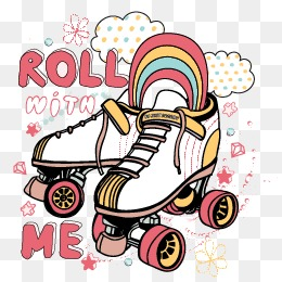 Roller Skating Shoes Clipart.