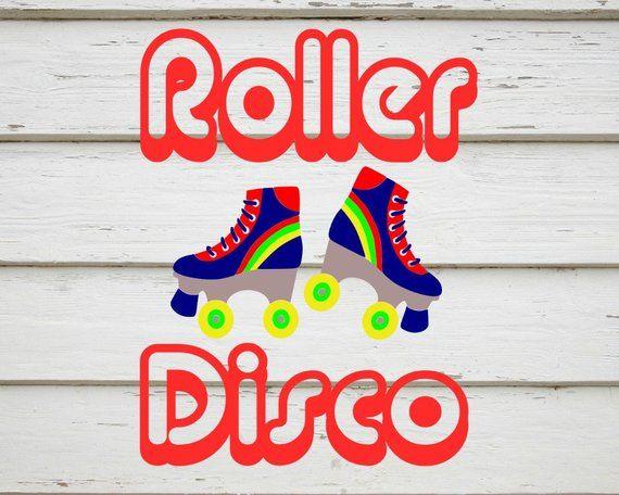 Roller disco svg roller skates image svg file digital.
