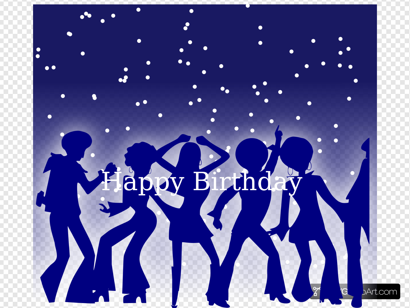 70s Birthday Clip art, Icon and SVG.