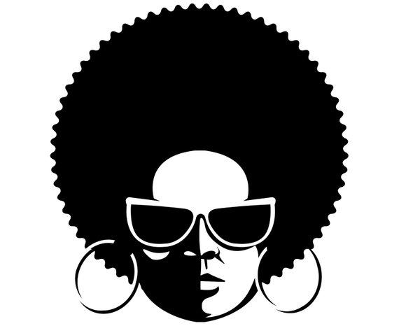 Afro woman SVG, Black woman SVG, Afro, Afro lady, Afro girl.