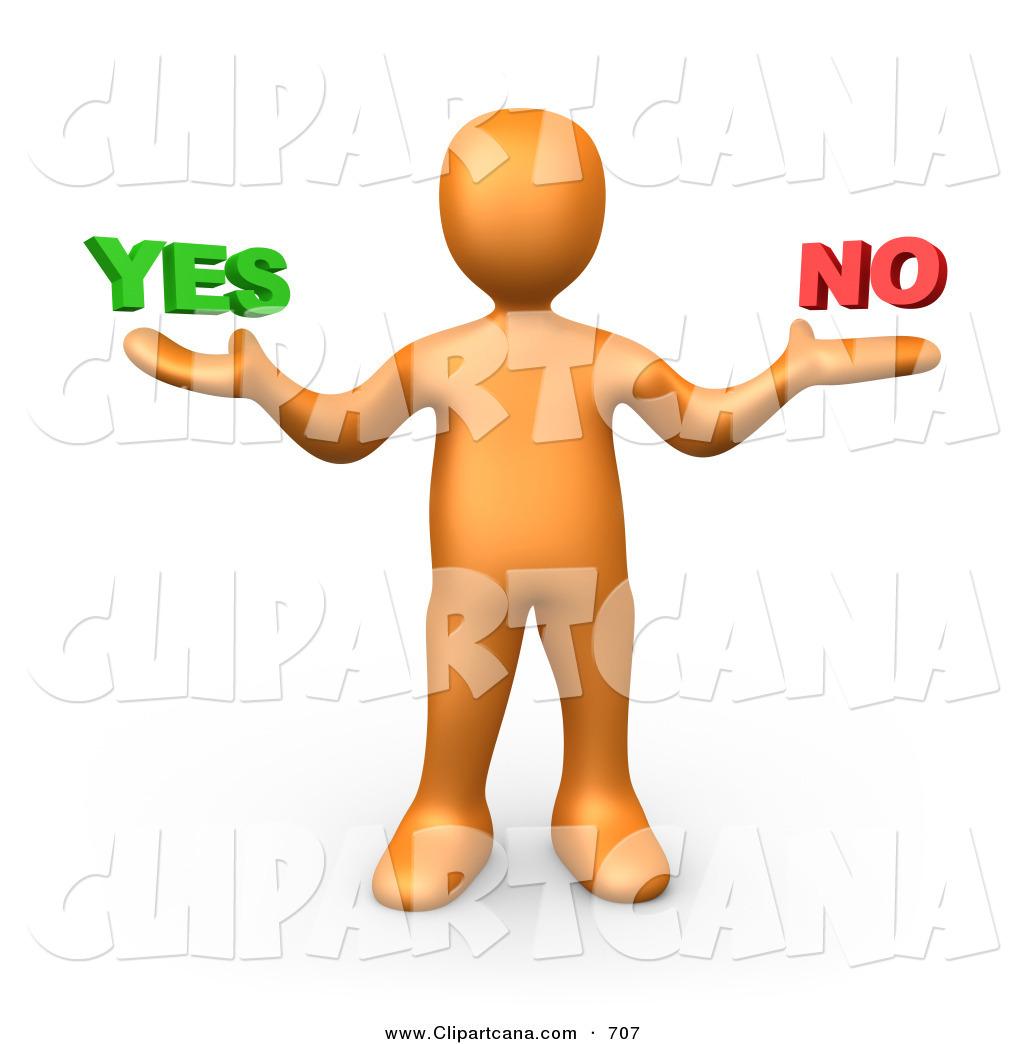Vector Clip Art of a Careful Uncertain Orange Person Shrugging and.