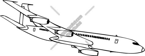 Gallery For > Boeing 707 Clipart.